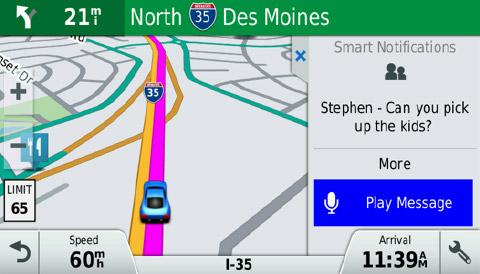 Garmin DriveSmart 70LMT išmaniosios galimybės