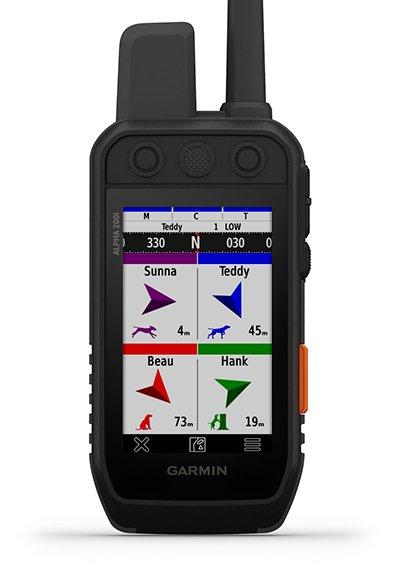 """Delninio įrenginio """"Alpha 200i"""" medžioklės metrikos ekranas"""