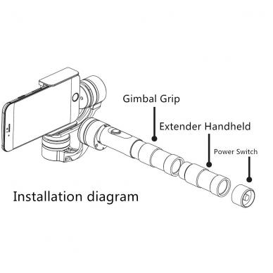 FY G4-EXT baterijos su rankenos prailginimu 2