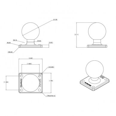 Įrangos laikiklis - viršutinė C dydis 3