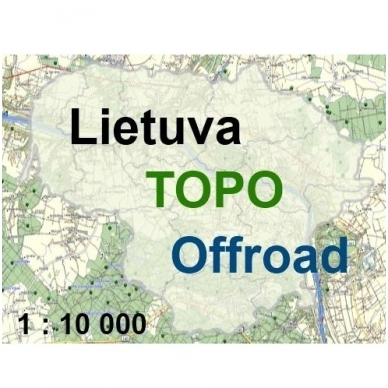 Lietuvos TOPO Offroad žemėlapis