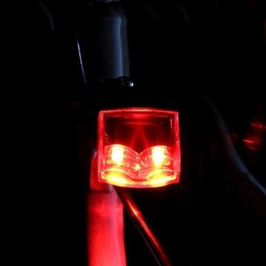 Mirksinti dviračio galinė lempa be baterijų 4