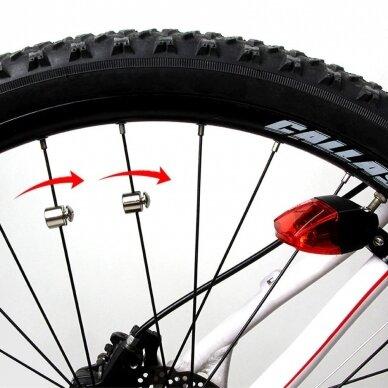 Mirksinti dviračio galinė lempa be baterijų 5