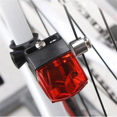 Mirksinti dviračio galinė lempa be baterijų 6