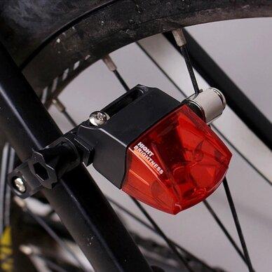 Mirksinti dviračio galinė lempa be baterijų 7