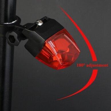 Mirksinti dviračio galinė lempa be baterijų 8