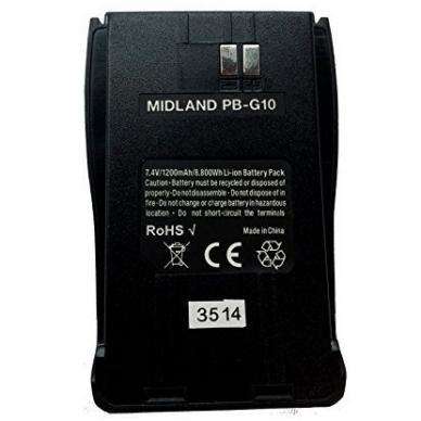 PB-G10 Ličio jonų baterija Midland G10 stotelėms 2